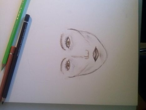 sketch of a face by 3quarks