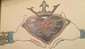 Welsh Claddagh Tattoo Design by AzureIvy