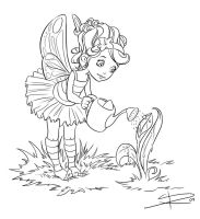 fairy line art by Sabinerich