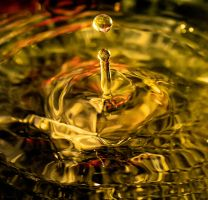 Drop of golden Sun by marklewisphotography
