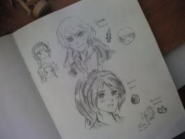 Random Sketches 2! Fem!Prussia and Fem!Spain!!! by xHetalianPolarBearx