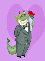 Troll in a suit by Kaaziel