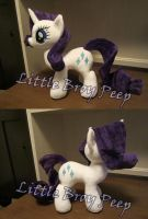 My little pony Rarity Plushie (commission) by Little-Broy-Peep