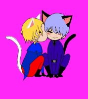 Neko Prussia and France by Puroisen1997