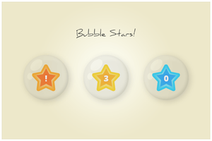 94 Bubble Stars (freebie by pixelcave) by pixelcave