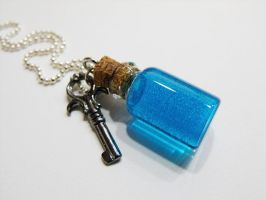 Drink Me bottle and key by 2littleKisses