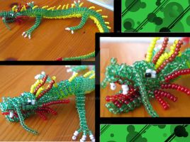 Beaded chinese dragon by Niicchan