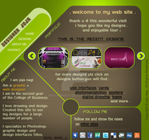 Graphic Designer Web Site by HagarNagi