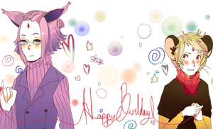Gift: Happy Birthday Flo by Lilycal