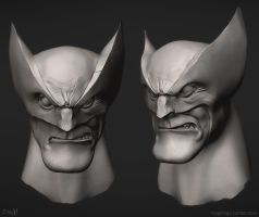 Wolvie ZBrush by frogbillgo