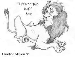 Scar Lion King Life's Not Fair by VTWC