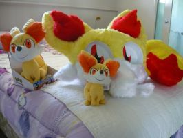 Fennekin On The Bed by VioletHybrid