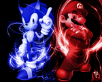 Mario and Sonic by darkest5