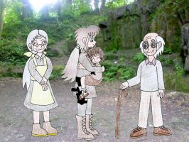 Human LBT Young Littlefoot and family by Animedalek1