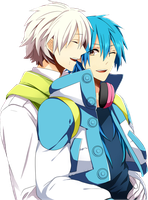 DRAMAtical Murder Render - Aoba Seragaki x Clear by WhateverheadDrop