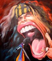 caricature Steven Tyler by crazedude