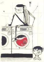Johnny And Squee Do Laundry 2 by Extolment