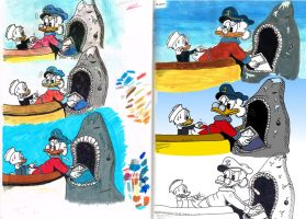 Colour study: Tick and Uncle Scrooge by Francoise-Evelyne