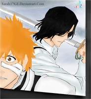 Bleach 457  ichigo vs tsukishima by Sarah17GE