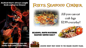 Foxy's Seafood Corner Billboard Illustration by MrAngryDog