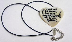 Upcycled Shakespeare's Oyster Heart necklace by Lovelyruthie