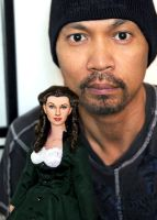 with my custom Scarlett O'hara repaint by noeling