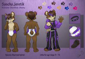 Littlefur Reference Sheet 2013 by Ghostbear2k