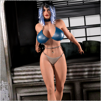 Mel - Swimsuit by Flame-3d