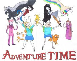 Adventure Time T-Shirt Design by lisuje
