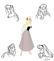 Briar Rose Model Sheet by al305sr