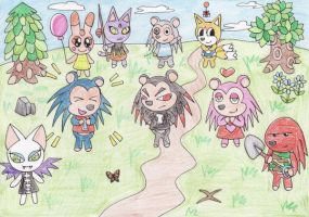 Sonic meets Animal Crossing by ChaosAngel5