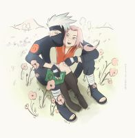 My OTP in a field of poppies by neonanything