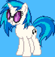 Vinyl Scratch Pixel Art by drewq123