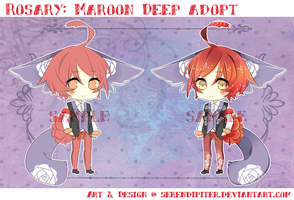[CLOSED] ROSARY: Maroon Deep Adopt by Serendipiter