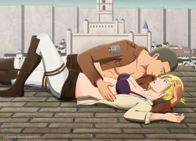 Commission: Connie Springer and Annie Leonhardt by R-Legend