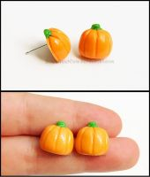 Pumpkin Candy Post Earrings by Bon-AppetEats