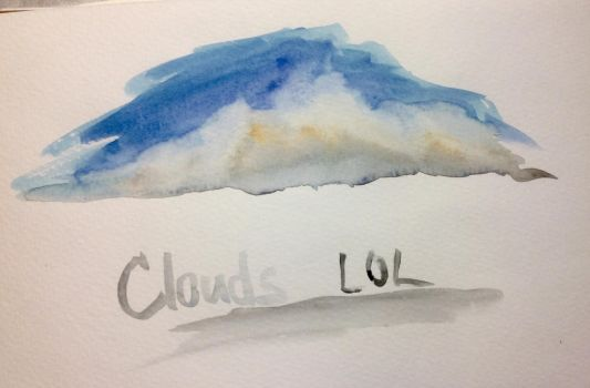 Watercolor Clouds Practice by PokemonMaster2004