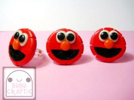 Elmo Adjustable Rings by efeeha