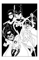 The Bat-Family... inks by misfitcorner