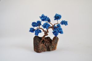 Blue wire bonsai tree by NoriAnum