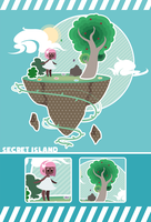 Secret Island by Piko-ka