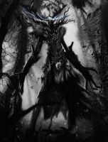 Leshen - The Witcher 3 Pencil Drawing by Names76