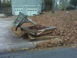 Mailbox trashed by Ellee22