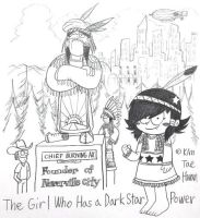 Chief Burning Ax the Founder of Neverville City by komi114