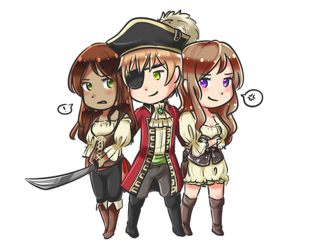 (COMMISSION) The Pirate Trio by SmartasticalArt