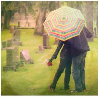Cemetery 02-A Kiss in The Rain by NLDesign