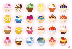 Muffins by Fiorina-Artworks