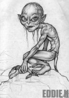 Gollum Sketch by EddieHolly