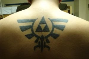 Hylian Crest Tattoo by blacksicanmofo