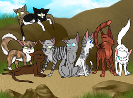 Forever united here somehow - ThunderClan warriors by Cattypasta